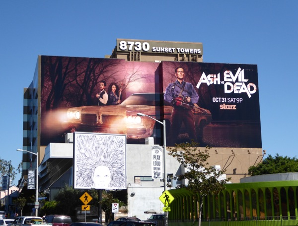 Giant Ash vs Evil Dead series premiere billboard