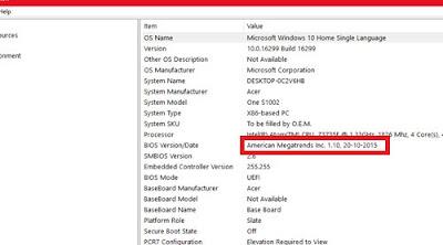 BIOS version kaise check kare
