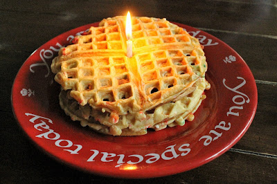 Celebrate your family's next birthday by starting the tradition of having birthday waffles!