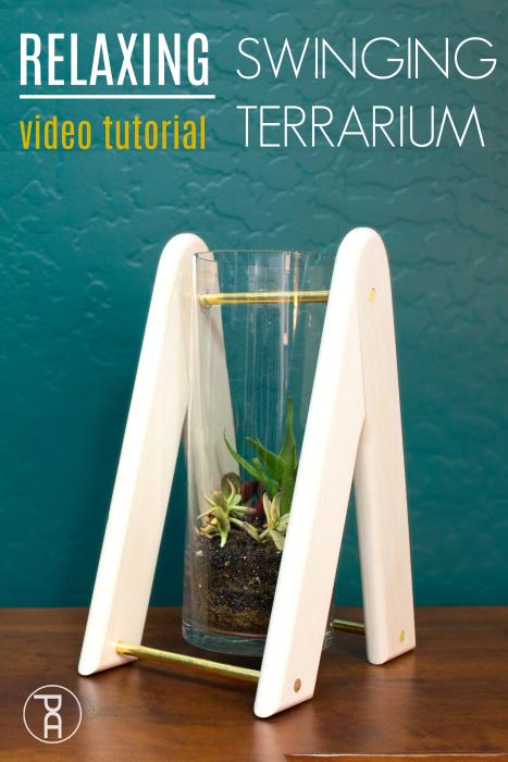 diy glass wood peace relaxation succulent swinging terrarium planter