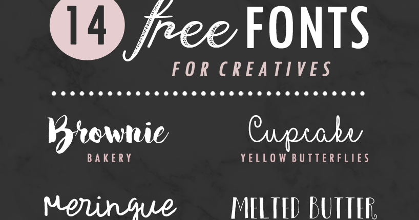 14 Free Fonts For Creatives Flip And Style Australian Fashion Beauty Lifestyle Blog