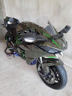 Bursa moge bekas Kawasaki ninja H2 tahun 2015...Rp 650.000.000