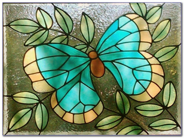 Buying Butterfly Stained GLASS WINDOW Film for sale