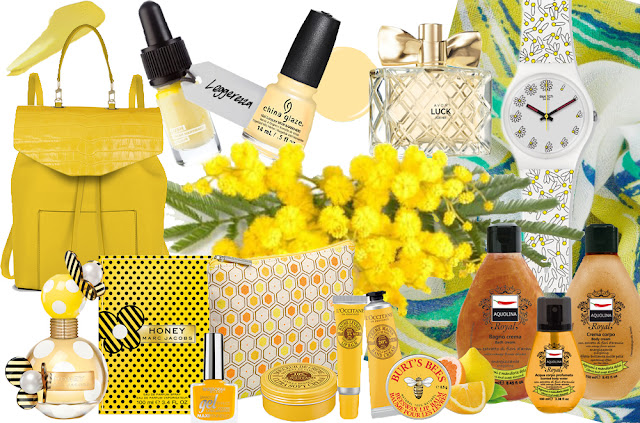 yellow, women's day,nail polish, positivity, vanilla, Burt's bees, China Glaze, Marc Jacobs, Avon, Lush, L'Occitane, Honey, sweet almond, citrusy scents, yellow accessories, fashion