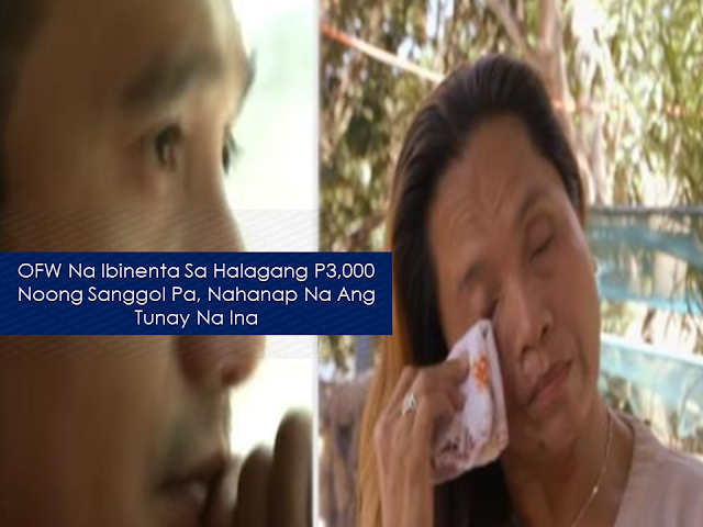 "It is natural for an adopted kid to find his roots or his biological parents after learning that his adoption. It completes his identity and gives inner peace regardless of the reason and the circumstances surrounding the situation.  After appearing on five episodes of Kapuso Mo Jessica Soho,   Ryan Mendoza's search for his mother is finally over.    In 2016, while working as an overseas Filipino worker (OFW) in Italy, Ryan Mendoza's foster parents admitted that he was adopted. In May 2018, he decided to look for his parents.  Advertisement        Sponsored Links      He sought the help of a parish priest in Catanduanes and one of his parishioners — Father Nick and Charie.   At that time Ryan only knew four things: that his father was a soldier, his mother gave him to a fish vendor and his real name was Joel de Vera and he was sold for P3,000.  The fish vendor was named Aling Toyang, known in the vicinity as someone who had babies adopted by others. Unfortunately, she already died. Aling Toyangs daughter, Zenaida, who remembers taking care of a baby named Joel.  In May, while he was in the country, Ryan's first lead was for his father. He met a man named Dominador and together, they underwent a DNA test. The test turned out negative.   A certain Gina who worked at a bar in Catanduanes could've been Ryan's mom, according to the local folks — and there was, in fact, a Gina who worked in Jomari's bar. When Gina Castillo watched a video of Ryan, her heart skipped a beat. Something inside tells her that Ryan is her son.    Gina narrated how she got pregnant by an older man, who wanted to abort the child. She also claimed that she was acquainted Aling Toyang.   Another woman came forward and claimed that Ryan is the son of a woman named Maritess ""Mayet"" Tolentino who gave her baby to her.  According to Mayet, she was still young when she got pregnant with the baby of a certain Jessie Santos.  They both agreed to take the DNA test, while Ryan flew back home again.  It took almost a month before the results of the DNA test could be processed and finally, the truth was revealed: Ryan is the son of Mayet.   For Ryan, he wished that his mom looked for him somehow but for him, it doesn't matter anymore now that she already found his biological mom. READ MORE: 11 OFWs Illegally Detained In A Room For 1 Week, Asking For Help    Dubai OFW Lost His Dreams To A Scammer    Can A Family Of Five Survive With P10K Income In A Month?    DTI Offers P5K To P200K To Small Business Owners    How Filipinos Can Get Free Oman Visa?    ""No Homework On Weekends Policy"" - Does it Apply to Private Schools?"