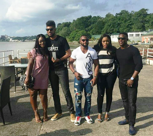 Big Brother Naija contestants hang out, including TTT & Bisola