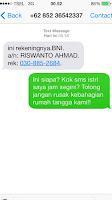 SMS modus penipuan di hp kita Android IOS