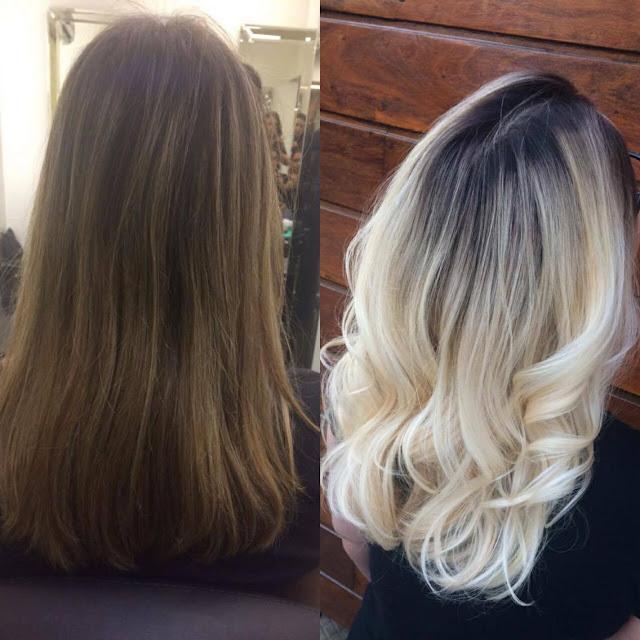 antes e depois do platinado