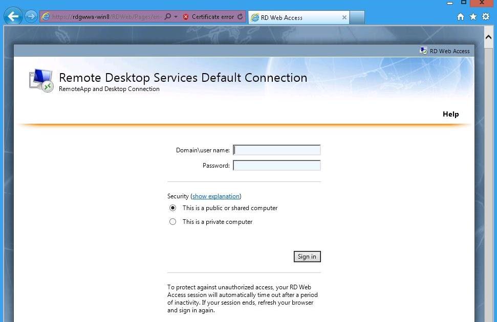 The Microsoft Platform: Remote Desktop Web Access in Windows