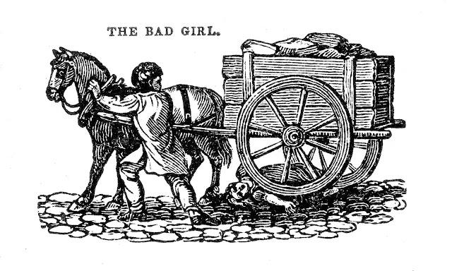 1860s schoolbook, the bad girl