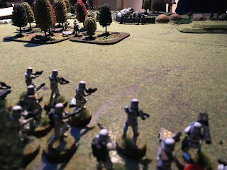 The Imperials move over open ground under Rebel fire!
