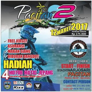 OFF ROAD Pacitan 2 Paradise of Java - Arjosari 12 Maret 2017