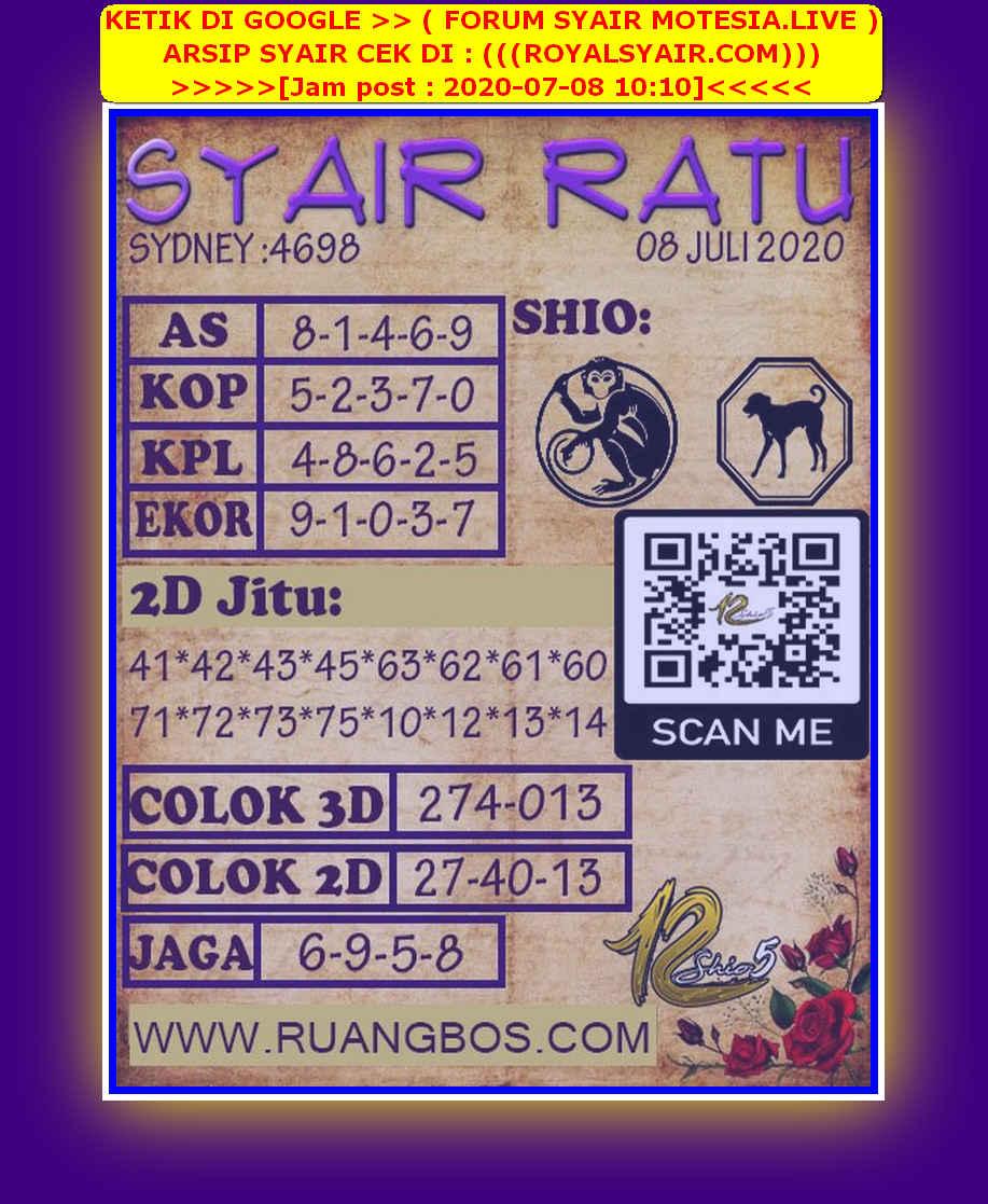 Kode syair Sydney Rabu 8 Juli 2020 149
