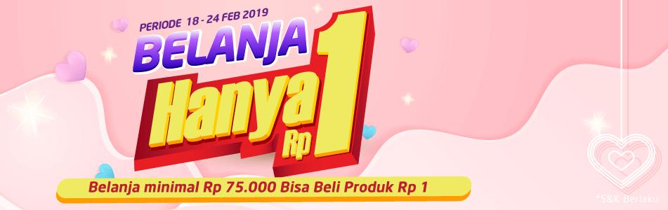 #Alfacart - #Promo Belanja Hanya 1 Rupiah Min Belanja 75 Ribu (s.d 24 Februari 2019)