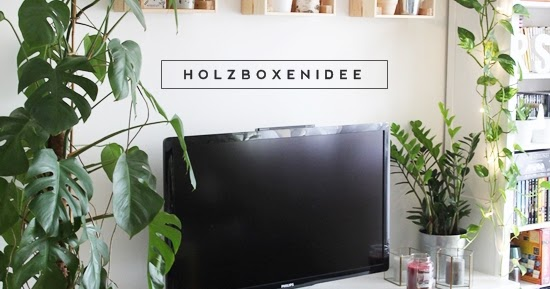 magnoliaelectric holzboxen an der wand interior pflanzen und weihnachten. Black Bedroom Furniture Sets. Home Design Ideas