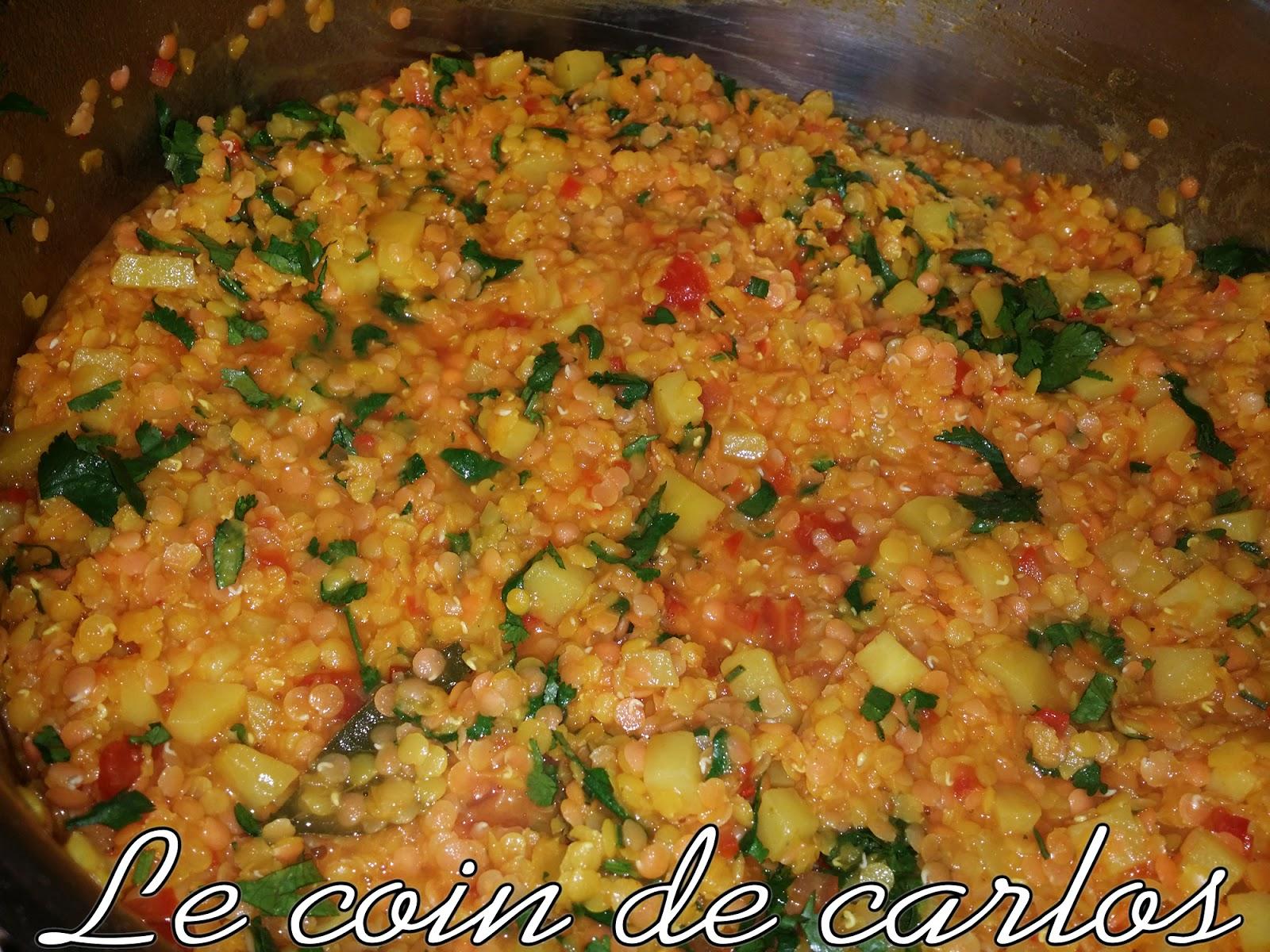 Ragout De Lentilles Corail Et De Pommes De Terre Légumes Et - Cuisiner les lentilles corail