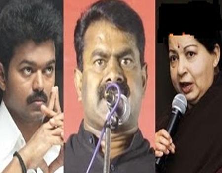 Seeman attacks Vijay Fans & Jayalalitha's ADMK Cadres