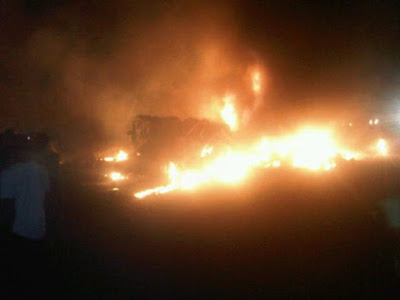 Chemical Tanker Explodes At Lekki-Epe Road. 1