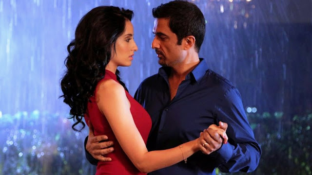 Sanjay Suri and Nora Fatehi in My Birthday Song, dancing in the rain, romantic