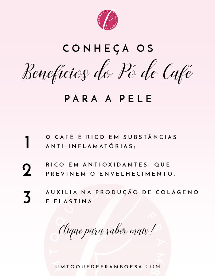 Conheça os benefícios do pó de café para a pele