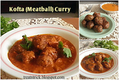Kofta (Meatball) Curry Recipe @ treatntrick.blogspot.com