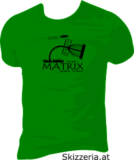 Shirt Disc Golf The Matrix has you