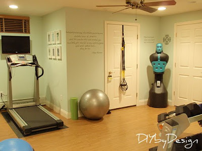 diydesign home gym reveal and giveaway