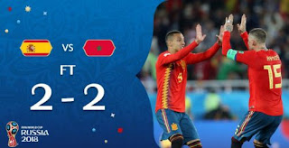 Spanyol vs Maroko 2-2 Video Gol Highlights