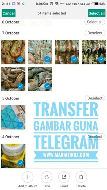 Transfer Gambar Guna Telegram