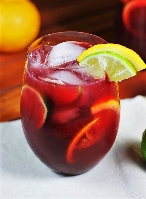 Triple Citrus Sangria Cocktail Image