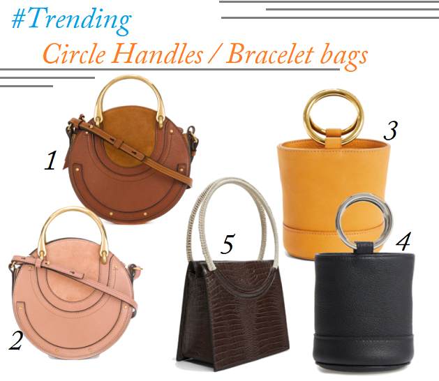 2018 Handbag Trends, Chloe Pixie Bag, Meghan Markle Bag, Chloe Bracelet Bags, Simon Miller Bracelet Bucket Bag
