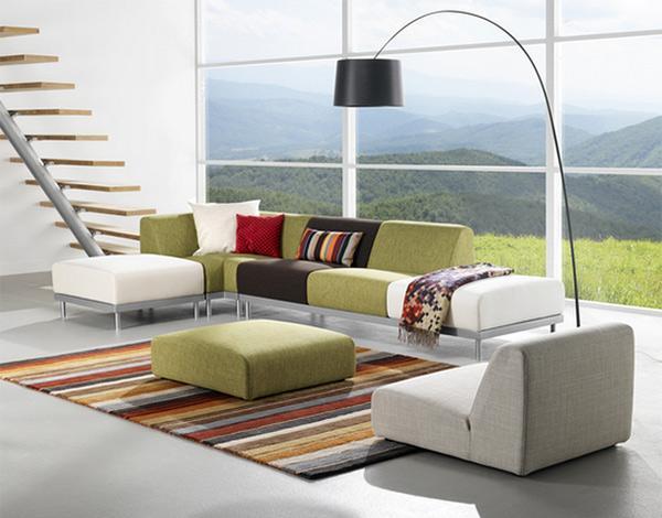 model sofa fleksibel modern untuk ruang tamu rancangan
