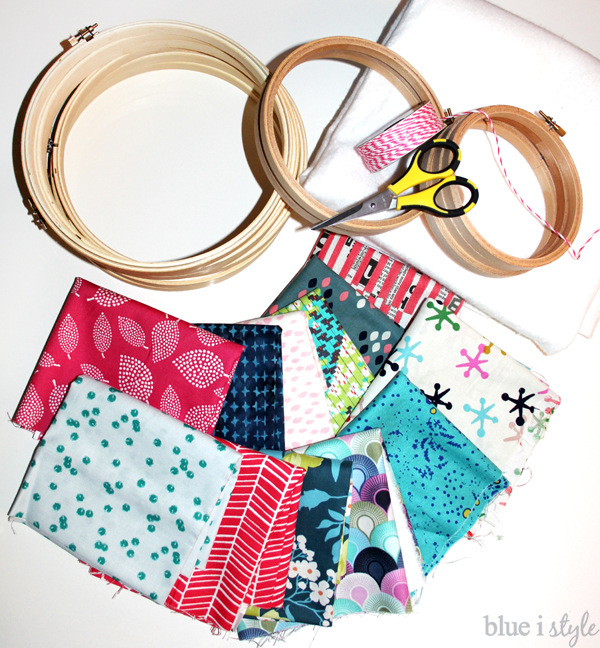 Fabric Filled Embroidery Hoop Supplies