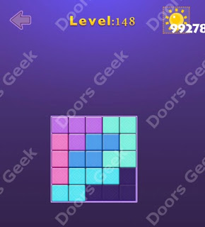 Cheats, Solutions, Walkthrough for Move Blocks Easy Level 148