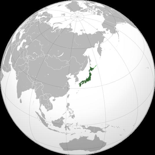 Letak negara Jepang