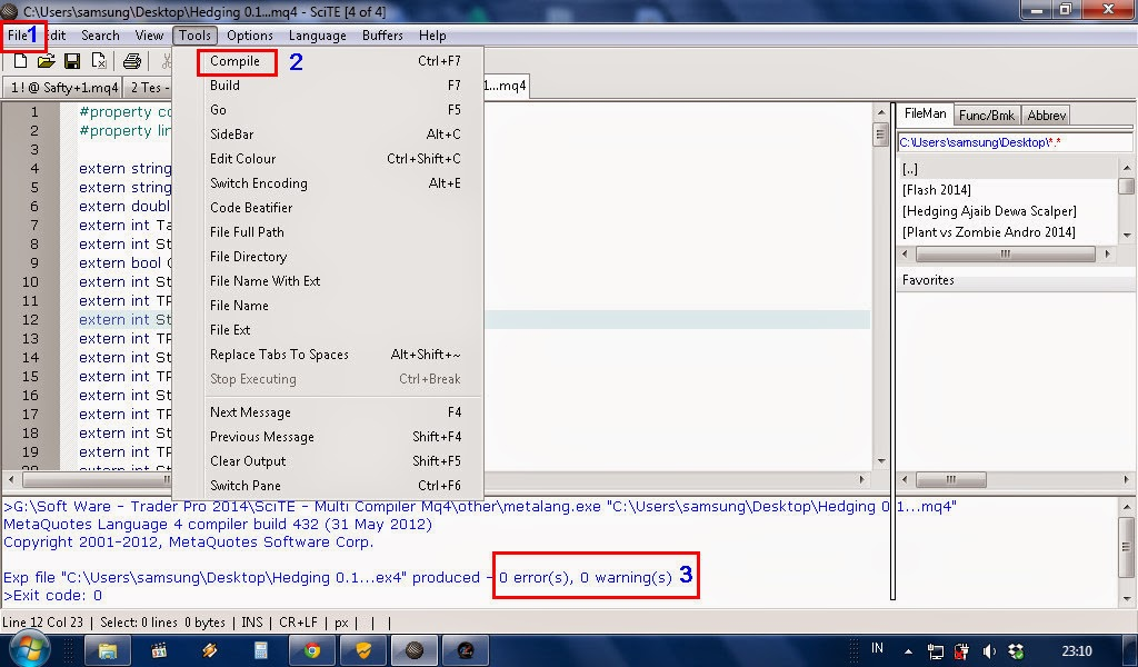 Forex mq4 to ex4 compiler