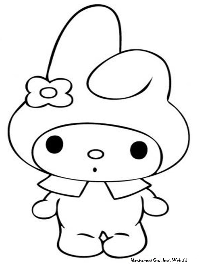 3d Hello Kitty Wallpaper Download Mewarnai Gambar My Melody Mewarnai Gambar