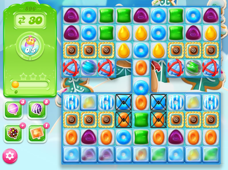 Candy Crush Jelly Saga level 596
