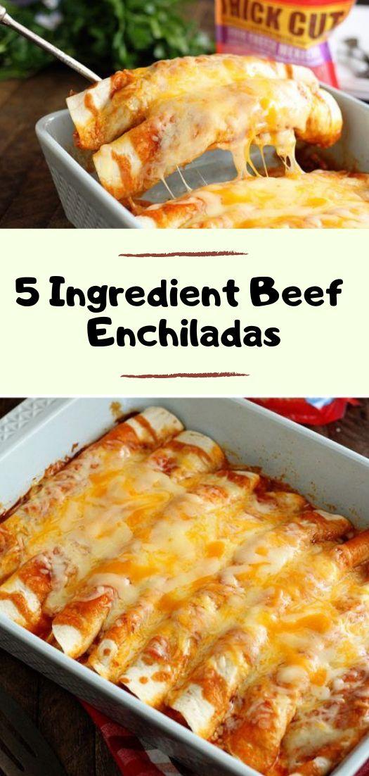 5 Ingredient Beef Enchiladas Recipe