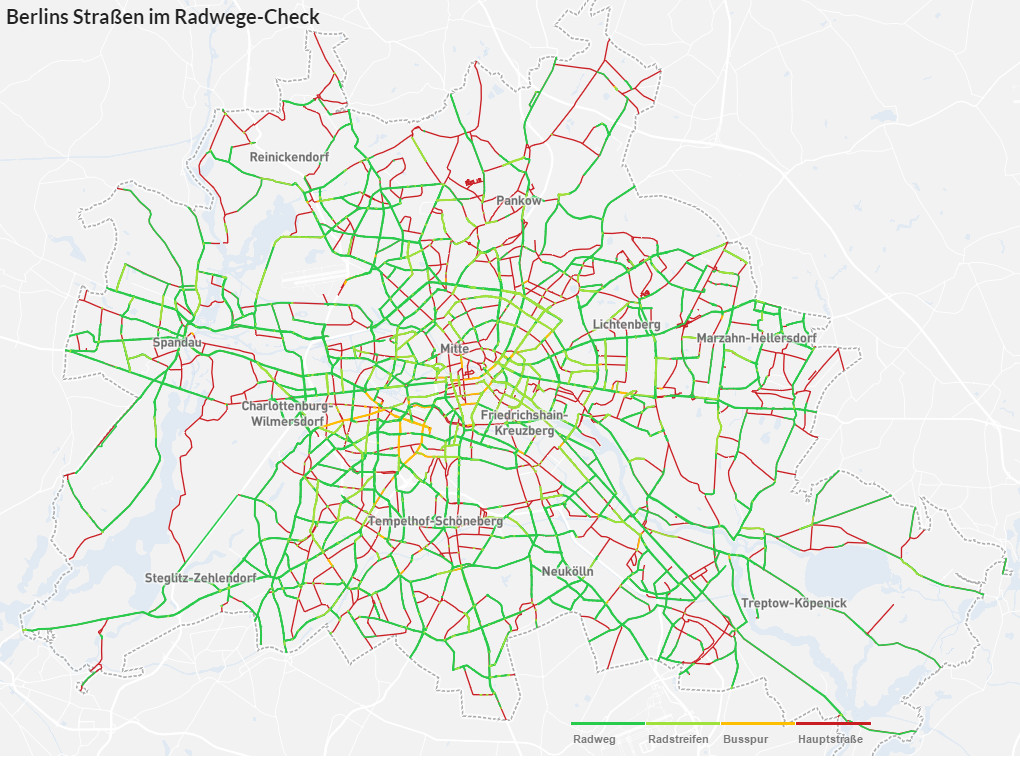 Berlin's cycle friendly streets