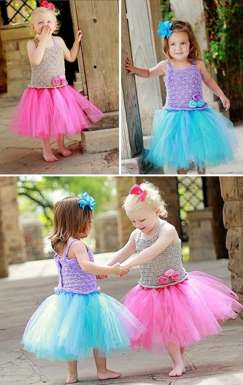 No Sew Tutu Dress - Crochet Pattern