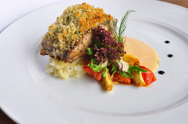 Seared Snapper Herb Crust