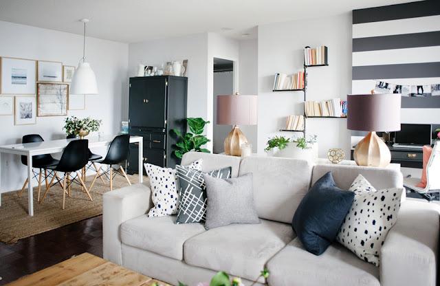 Blog Achados de Decoração, Pequenino Apartamento decorado em tons neutros