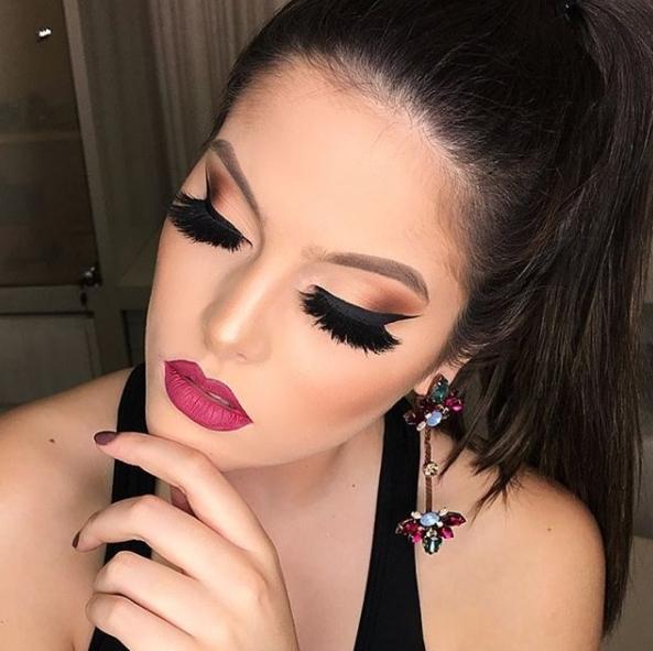 maquiagem batom rosa makeup