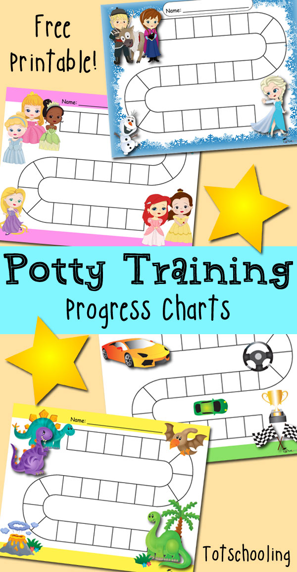 graphic about Free Printable Potty Training Charts identify Cost-free Potty Doing exercises Enhancements Profit Charts Totschooling