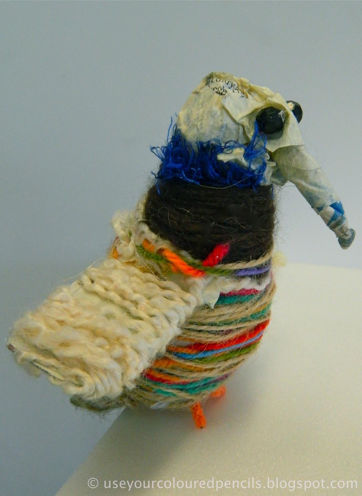 Use Your Coloured Pencils Aboriginal Inspired Fibre Sculptures
