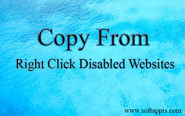 How To Copy Any Content From Right Click Disabled Website