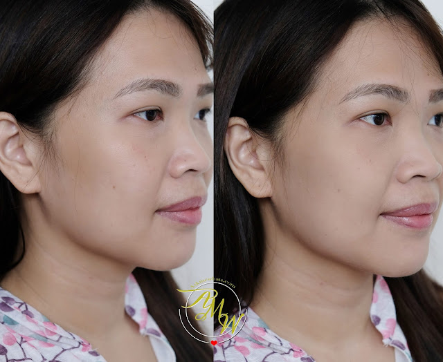 before and after photo of Make Up For Ever Matte Velvet Skin Blurring Powder Foundation review by Nikki Tiu of www.askmewhats.com
