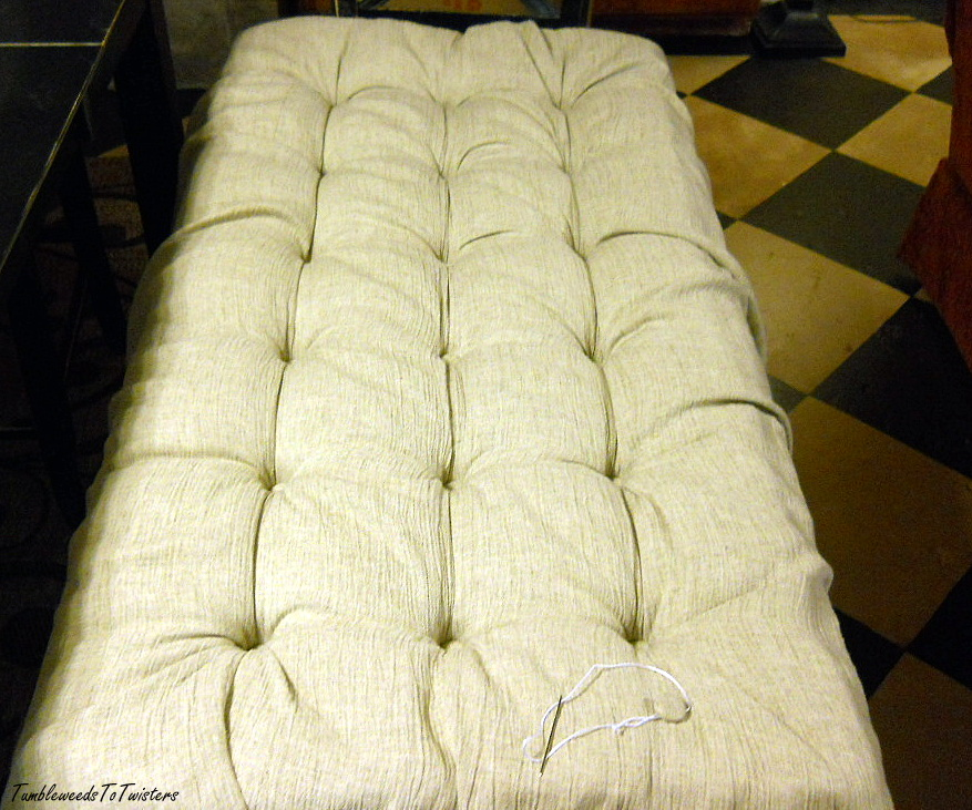 Amazing Tumbleweeds To Twisters Diamond Tufted Ottoman Take One Machost Co Dining Chair Design Ideas Machostcouk