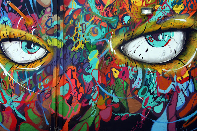 Street Art By Abstrk On The Streets Of Miami, USA. eyes details